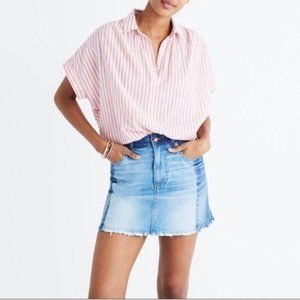 Madewell Two Tone Denim Mini Skirt